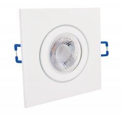IP44 LED Einbaustrahler flach weiß eckig 5W 230V dimmbar