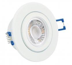 IP44 LED Einbaustrahler flach Weiß rund 5W 230V dimmbar