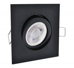 LED 5W Einbaustrahler flach schwarz matt eckig 230V dimmbar