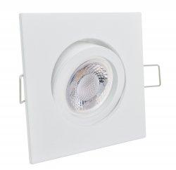 LED 5W Einbaustrahler flach weiß eckig 230V dimmbar