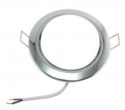 LED GX53 Einbaustrahler Set 6W chrom rund 230V flach