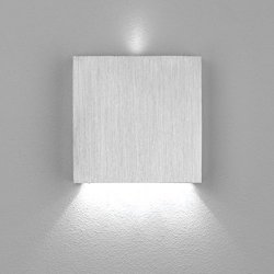 LED Wand Treppenleuchte Aluminium 1,5W Kaltweiß 230V dezent indirekt