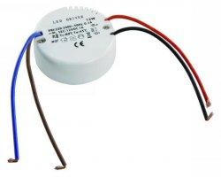 LED Trafo 0,5-12W Gleichstrom Ultraslim rund flach 55mm