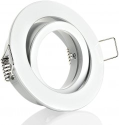 LED Einbaustrahler GU10 Einbaurahmen weiß matt Klickverschluss
