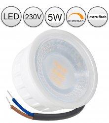LED Modul 5W 230V Spot Strahler warmweiß 25mm flach 38° 2700K stufenlos dimmbar