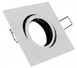 LED Einbaurahmen Einbaustrahler eckig chrom Bajonettverschluss