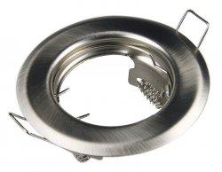 LED Einbaurahmen GU10 Einbaustrahler Silber gebürstet 55mm Bohrung