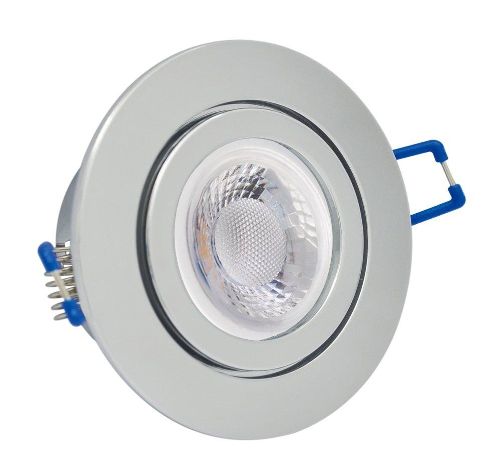 IP20 LED Einbauleuchten Set Bad Terrasse 20W chrom rund 20V