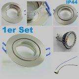 IP44-Feuchtraum LED Einbaustrahler Silber 4W GU10 230V warmweiß