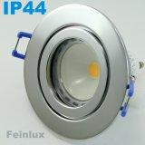 IP44-Feuchtraum LED Einbaustrahler set Chrom 4W GU10 230V kaltweiß