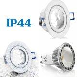 IP44-Feuchtraum LED Einbaustrahler weiß 4W GU10 230V warmweiß