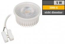 LED Spot Strahler 5W Modul warmweiß 25mm flach 50° 3000K