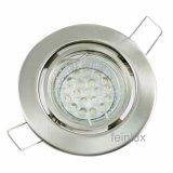 LED GU10 Einbauleuchten Set 1,2W gebürstet 230V dezent