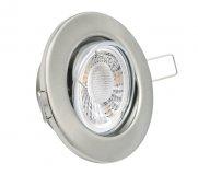LED GU10 Einbauleuchten Set 5W gebürstet rund 230V
