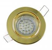 LED GU10 Einbauleuchten Set 1,2W Messing-Gold 230V dezent