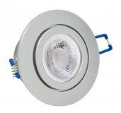 IP44 LED Einbaustrahler Set Chrom glänzend rund GU10 5W 230V