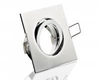 LED 5W Einbaustrahler flach Chrom eckig 230V dimmbar