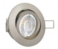 LED 5W Einbaustrahler flach gebürstet rund 230V dimmbar