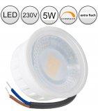LED 5W Einbaustrahler flach weiß rund 230V dimmbar