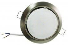 LED GX53 Einbaustrahler Set 6W gebürstet rund 230V flach