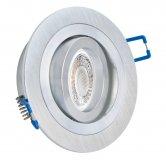 LED GU10 Einbauleuchten Set 5W Alugebürstet rund 230V