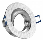 LED 5W Einbaustrahler flach Alugebürstet rund 230V dimmbar