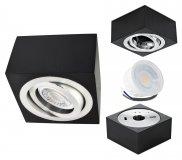 LED Aufbaustrahler Set 5W Aluminium schwarz eckig 230V dimmbar flach