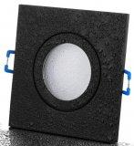 IP44 LED Einbaurahmen eckig Einbaustrahler schwarz 12V/230V
