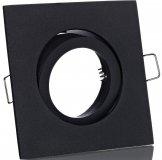 LED Einbaurahmen GU10 Einbaustrahler eckig schwarz matt