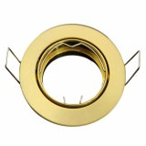 LED Einbaurahmen Einbaustrahler Gold Messing Massiv