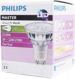 Philips LED GU10 Strahler 4.5W Warmweiß Schutzglas 230V Dimmbar