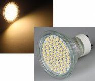 LED GU10 Strahler 2W 54SMD Warmweiß 230V 120° 180lm