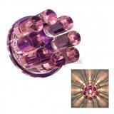 Kristall Glas Einbaustrahler Lila Einbauleuchte 12V G4 AC/DC